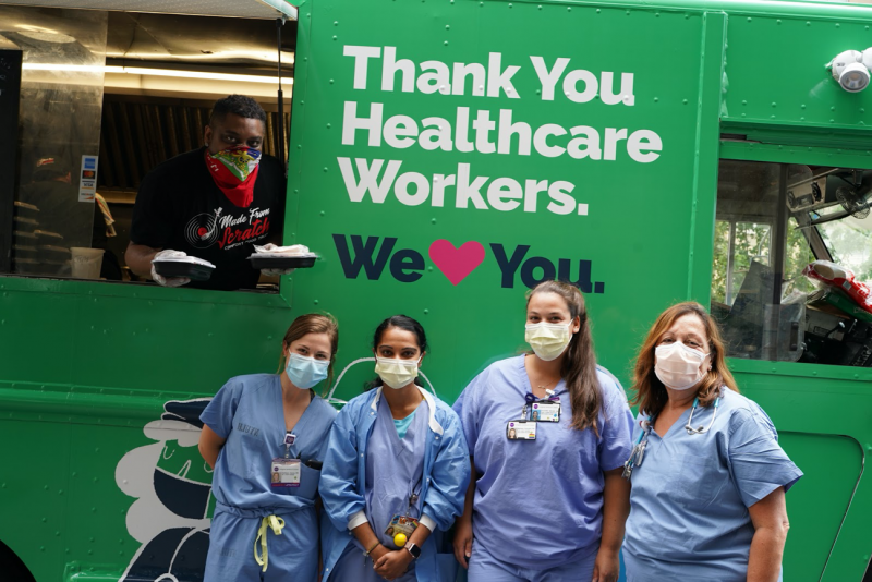 NYI food truck and healthcare workers - new york city